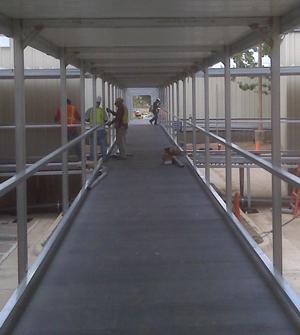 Fiberglass Decking A Problem Solver For Temporary Walkways