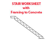 Stair Worksheet with Framing to Concrete