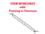Stair Worksheet with Framing to Structure