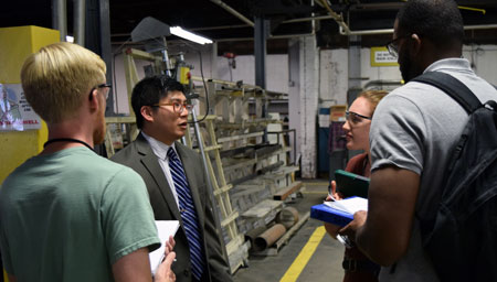 manufacturing, stem, emory and henry business students
