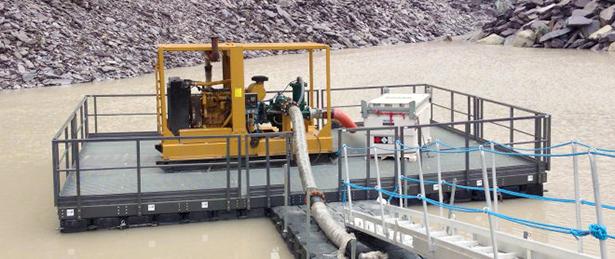 Quarry Pump Platform onsite
