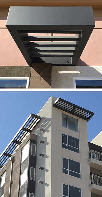 0591-Apartment Sunshade Awnings Details